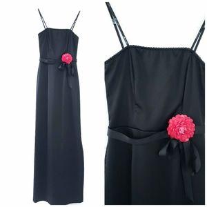 Strapless Black Maxi Dress Semi-Formal Size 1
